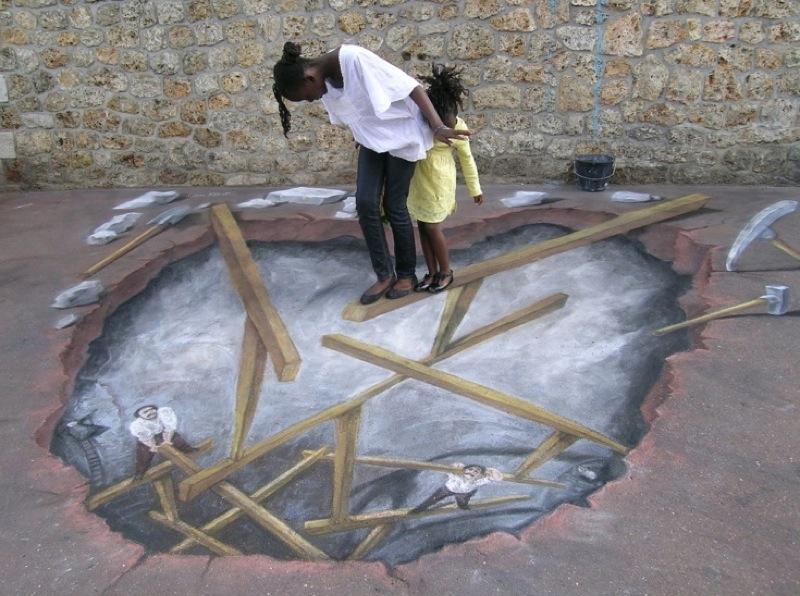 comment dessiner une illusion anamorphique