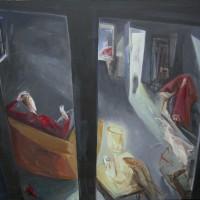 Peinture de Solweig von Kleist, Attente,