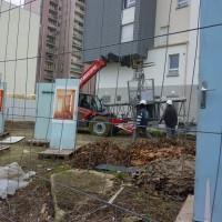 Les portes et le chantier, photo de Marielle Bernaudeau, 9/01/13