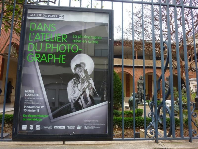 """Affiche de l'exposition """"Dans l'atelier du photographe"""" au musée Bourdelle   3/02/13"""
