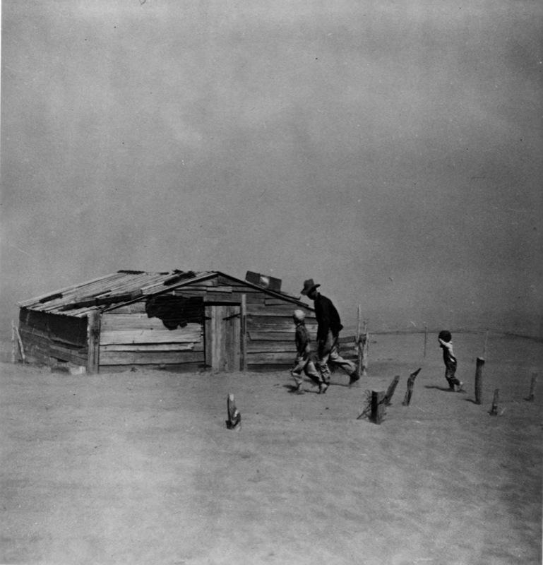 Tempête de sable, conté de Cimarron, Arthur Rothstein, 1936