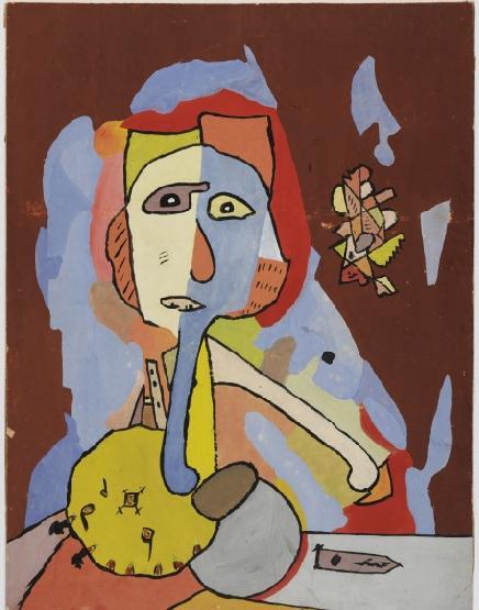 Visage aux hachoirs, Gaston Chaissac, 1947-1948