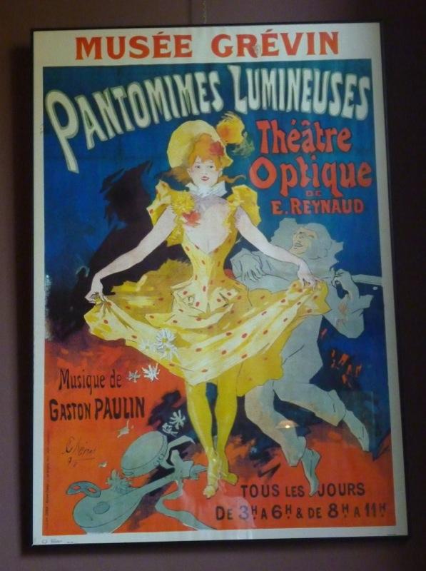 Affiche des spectacles d'Emile Reynaud au musée Grévin