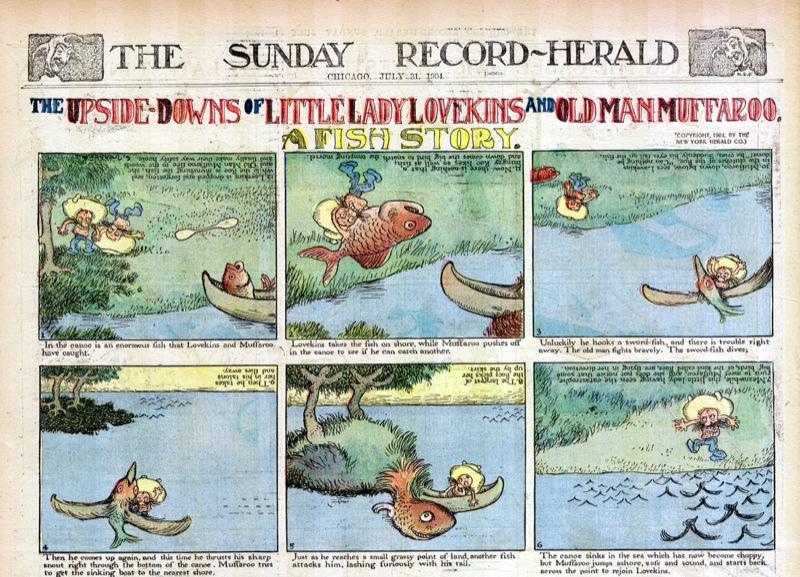 The upside down of little lady Lovekins and old man Muffaro, Gustave Verbeek, 1904