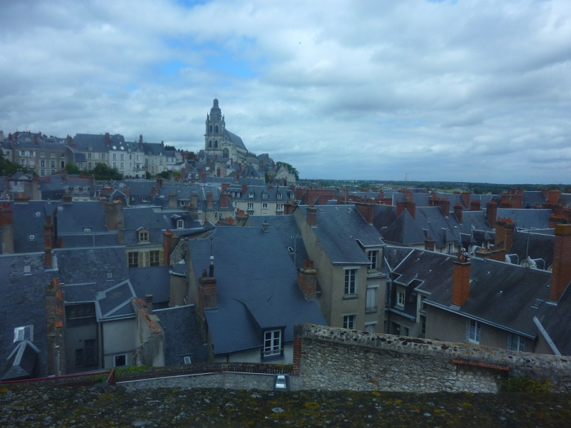 Les toits gris de Blois vus de la Maison de la Magie Robert-Houdin