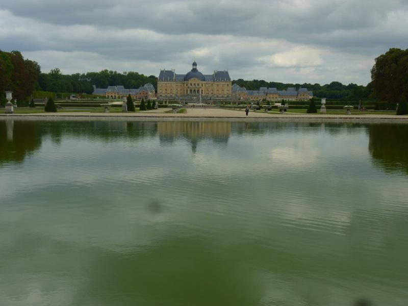 Miroir d'eau du château de Vaux Le Vicomte, 24/08/13