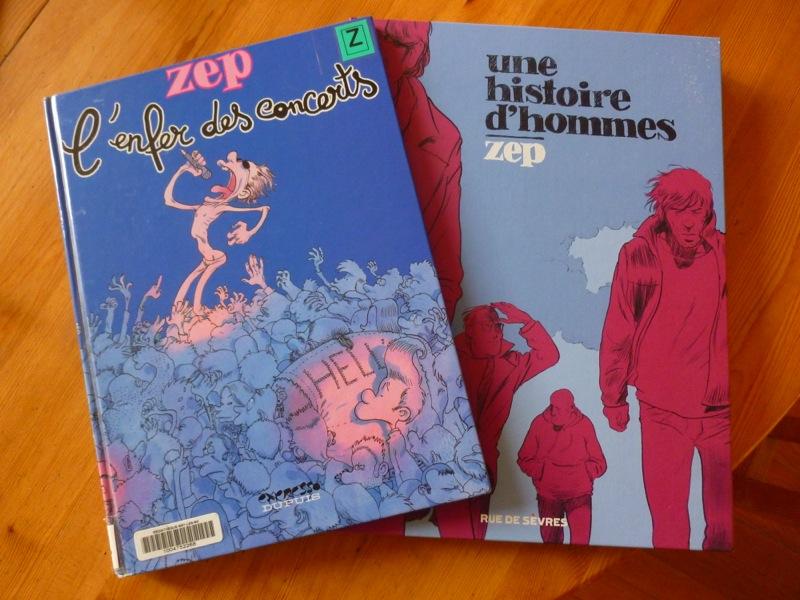 """""""L'enfer des concerts"""" et """"Une histoire d'hommes"""" de Zep, Dupuis-1999 et Rue de Sèvres-2013"""