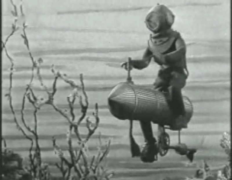 le vélo sous-marin