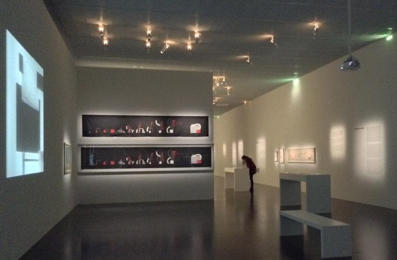 """Vue de l'exposition """"Hans Richter, la traversée du siècle"""" 9 janvier 2014"""