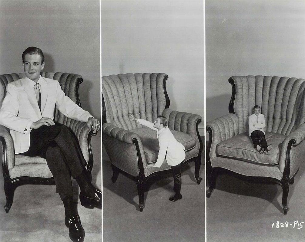 """Photographie de plateau réalisée par Allan Grant, """"L'homme qui rétrécit"""" 1957"""