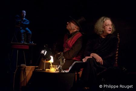 """Laurent Berman et Anne Quesemand, """"Méliès, cabaret magique"""", © Philippe Rouget"""