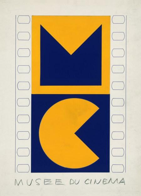 Victor Vasarely, essai de logo pour le musée du cinéma © ADAGP, Paris, 2014