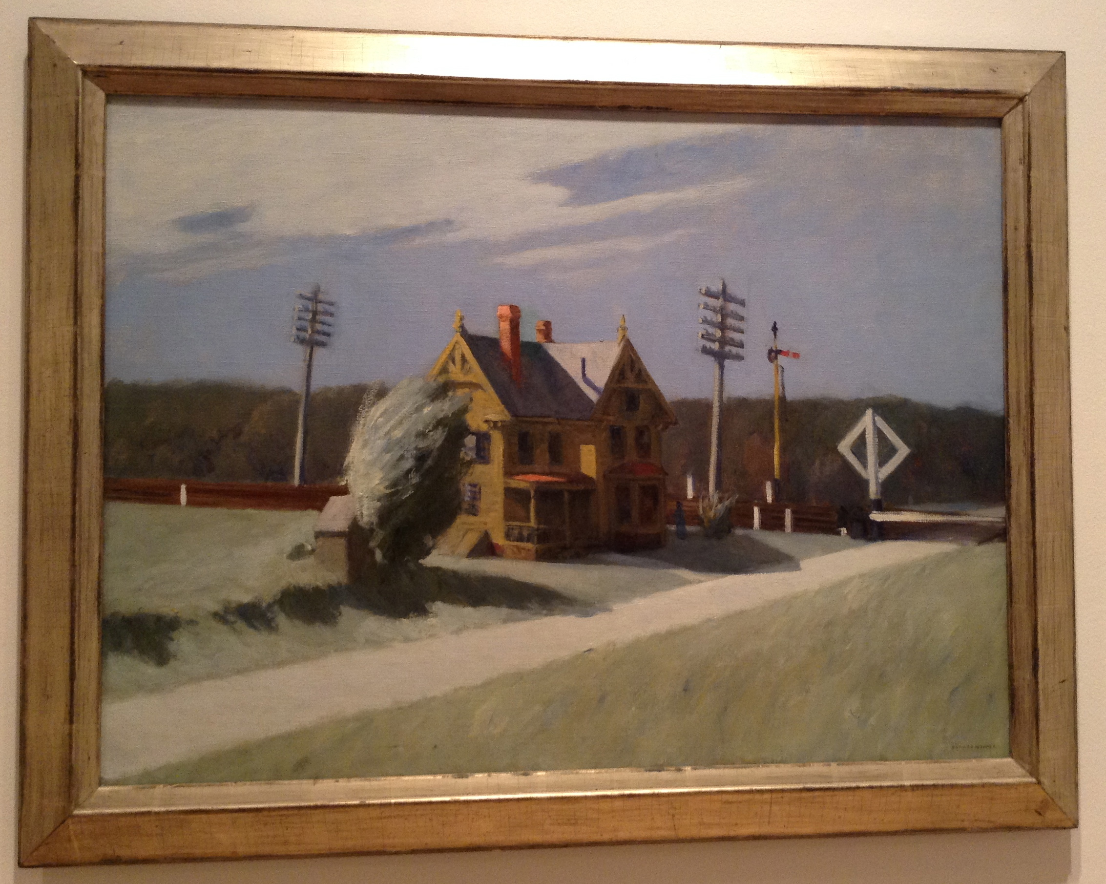 Railroad Crossing d'Edward Hopper, 1922-1923