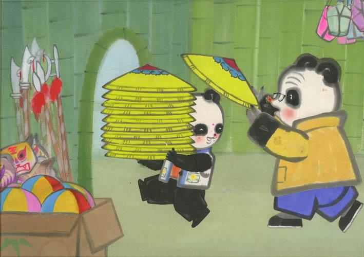 La boutique des pandas des studios d'art de Shanghai