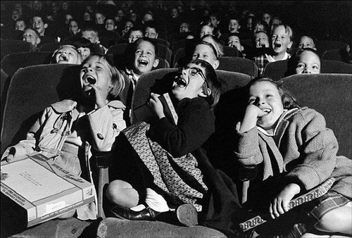 Children in a movie theater, USA (The world is young), Wayne Miller, 1958