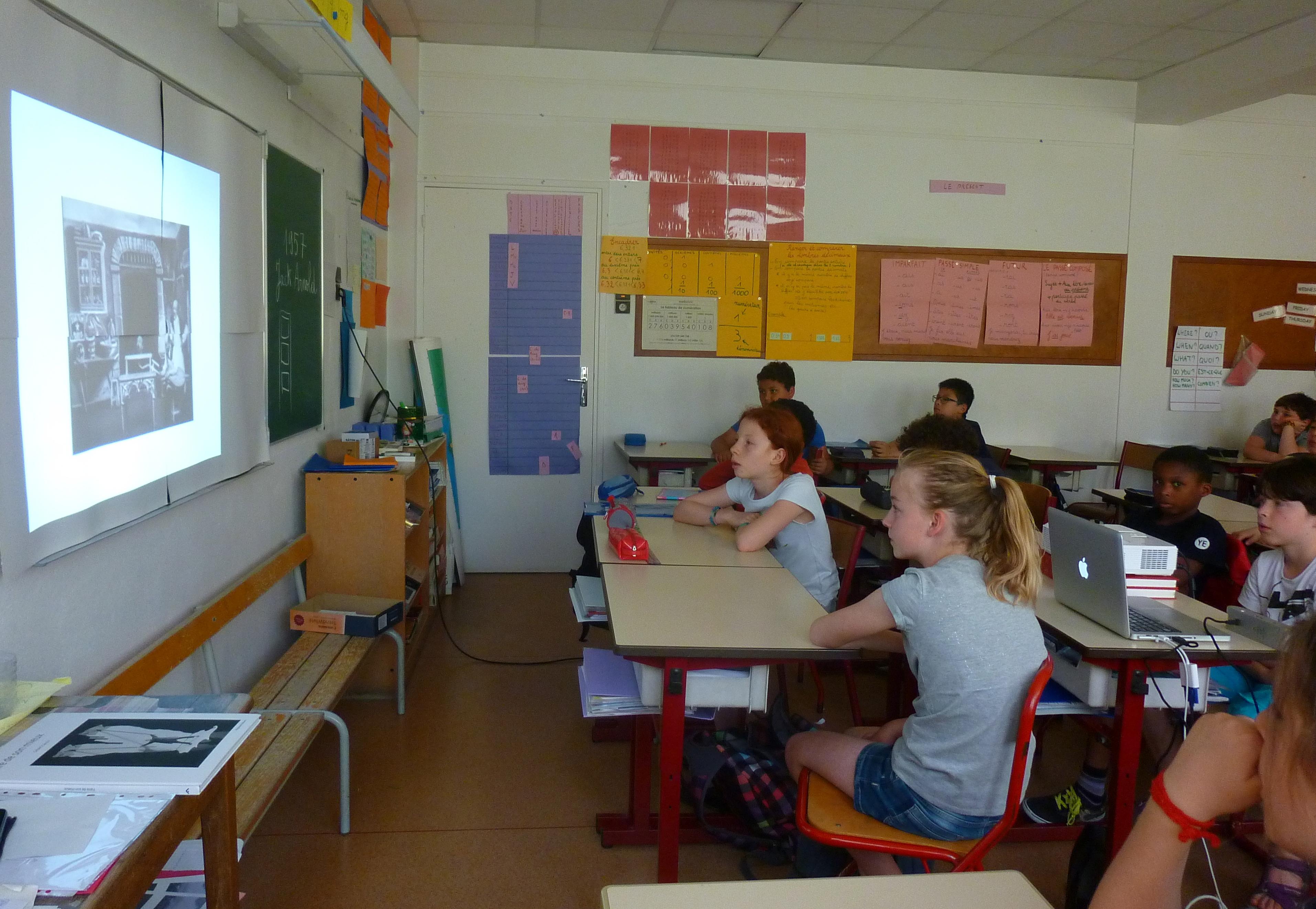 Les CM2 de Florence Aadari, école Vaucanson