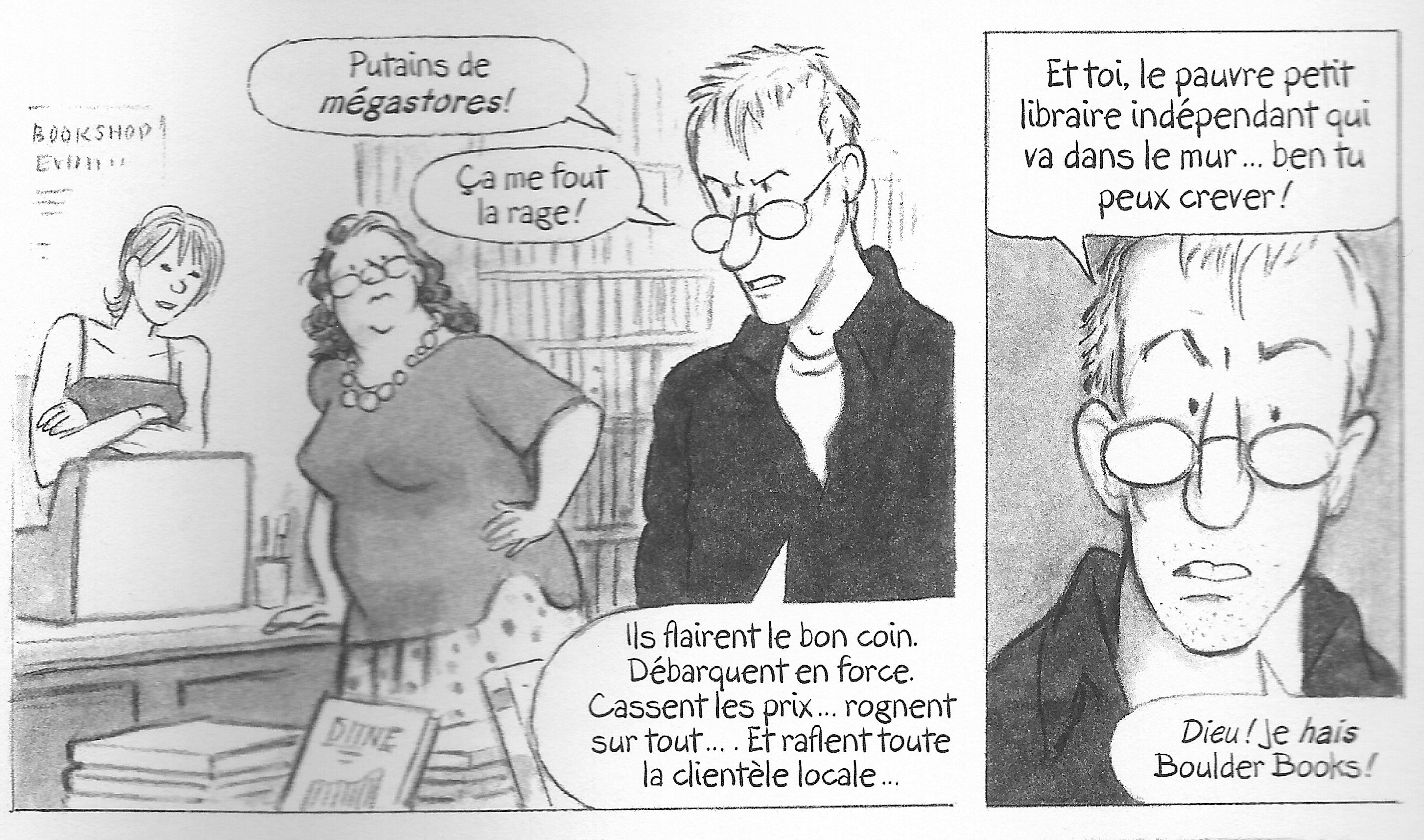 """Extrait de la page 6 """"Salauds"""" Literary Life de Posy Simmonds"""