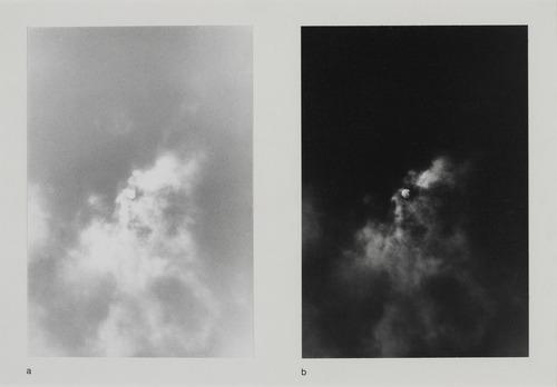 Le soleil et la lune à partir d'un seul négatif de Timm Rautert, 1972