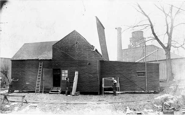 La Black Maria, premier studio de cinéma construit en 1893