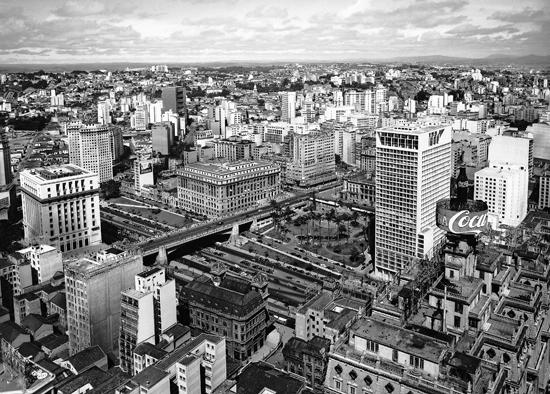Ville de Sao Paulo vue de l'immeuble Altimo Arantes, Hans Gunter Flieg, 1950