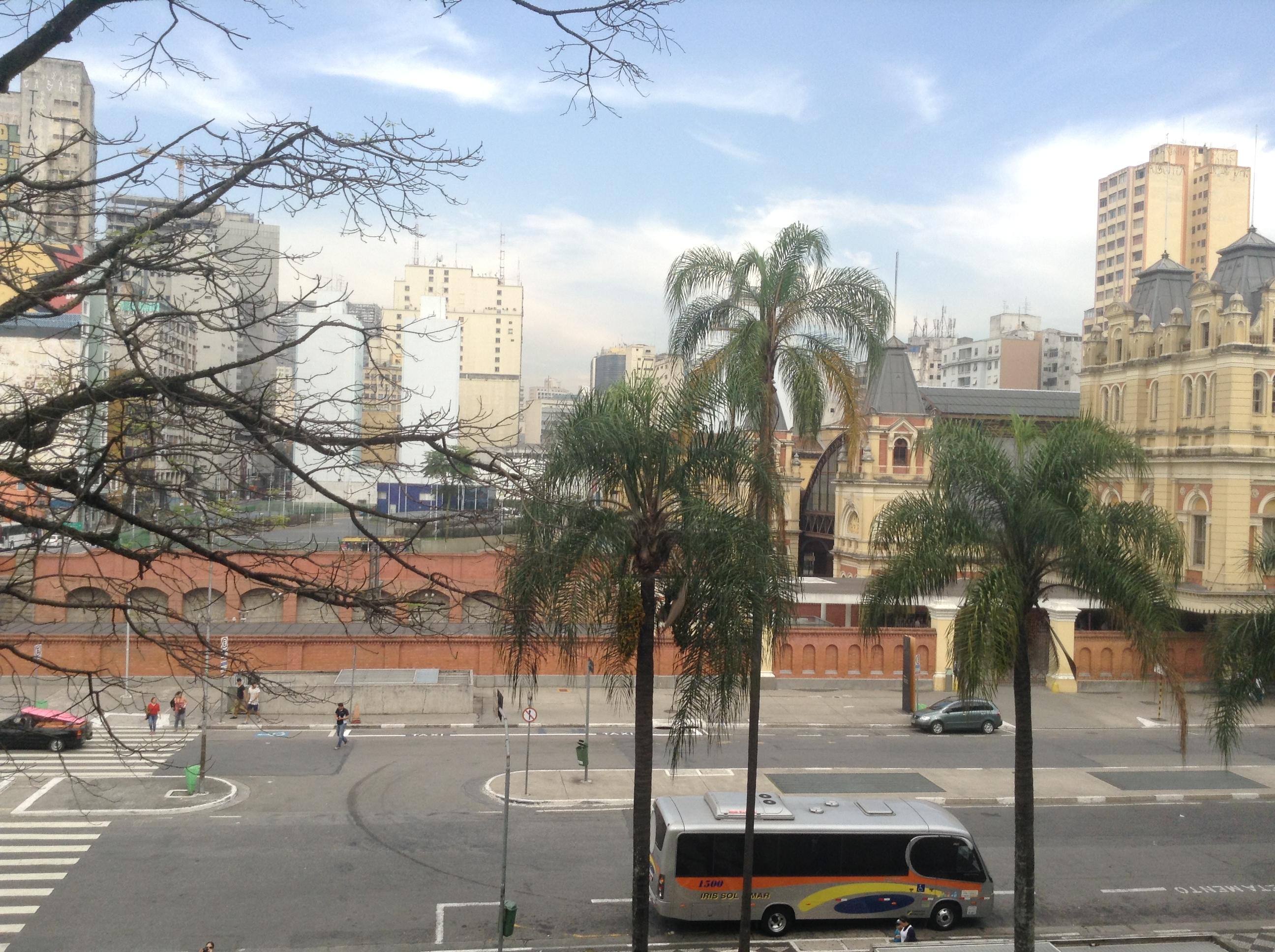Vue de la pinacothèque de Sao Paulo, 17 juillet 2015