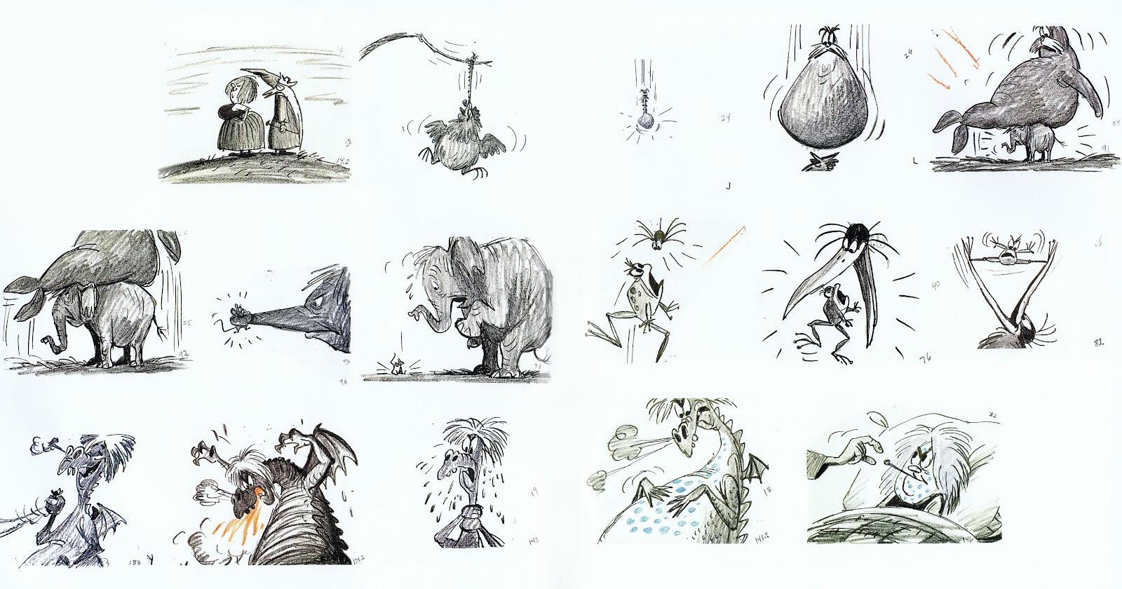 """Dessin préparatoire à """"Merlin l'enchanteur"""" des Studios Disney, présenté dans le blog d'Andreas Deja"""