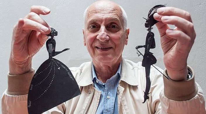 """Michel Ocelot et ses figurines """"Prince et princesse"""""""