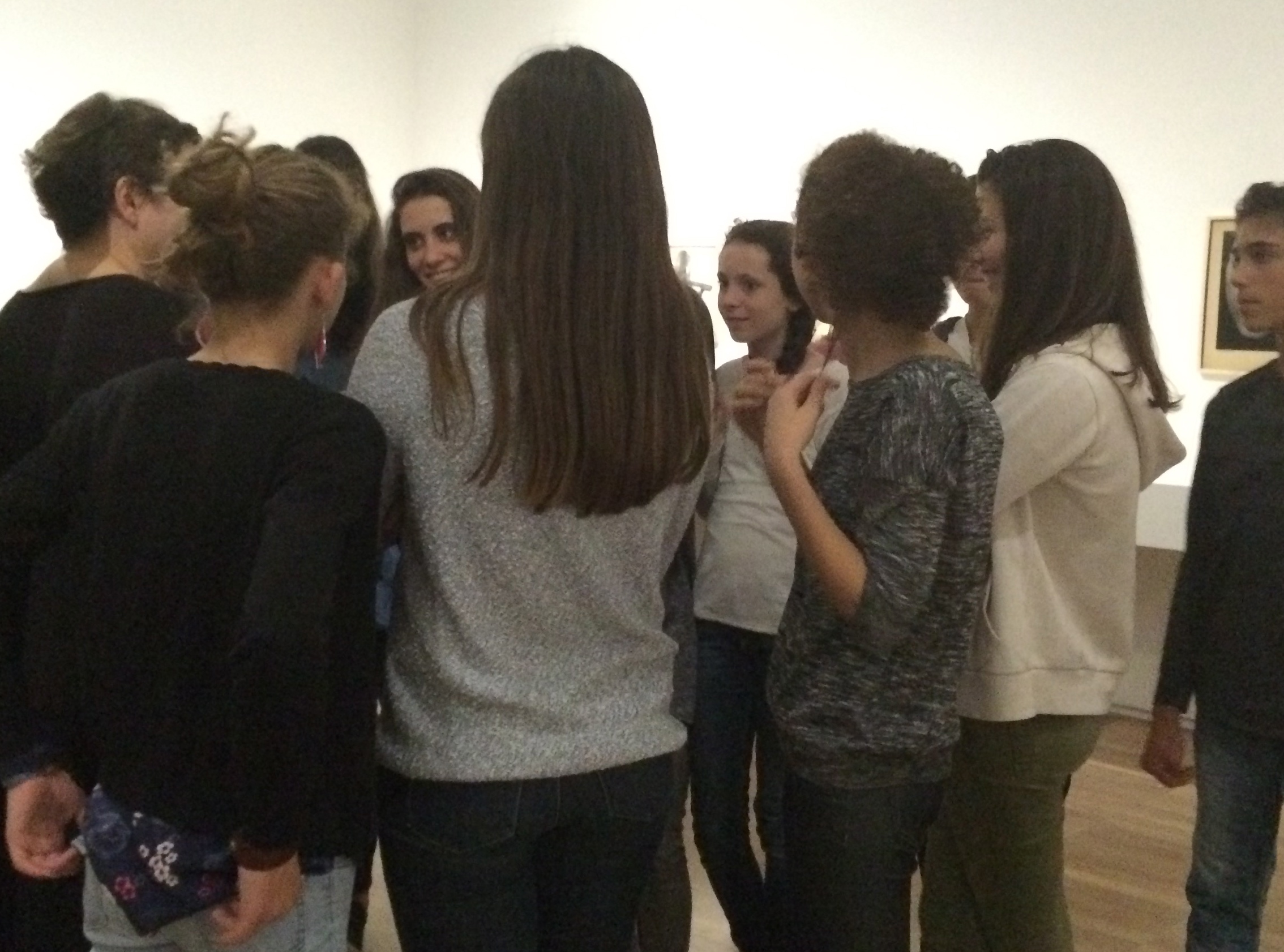 Tout commence par la visite de l'exposition Philippe Halsman avec Pauline.