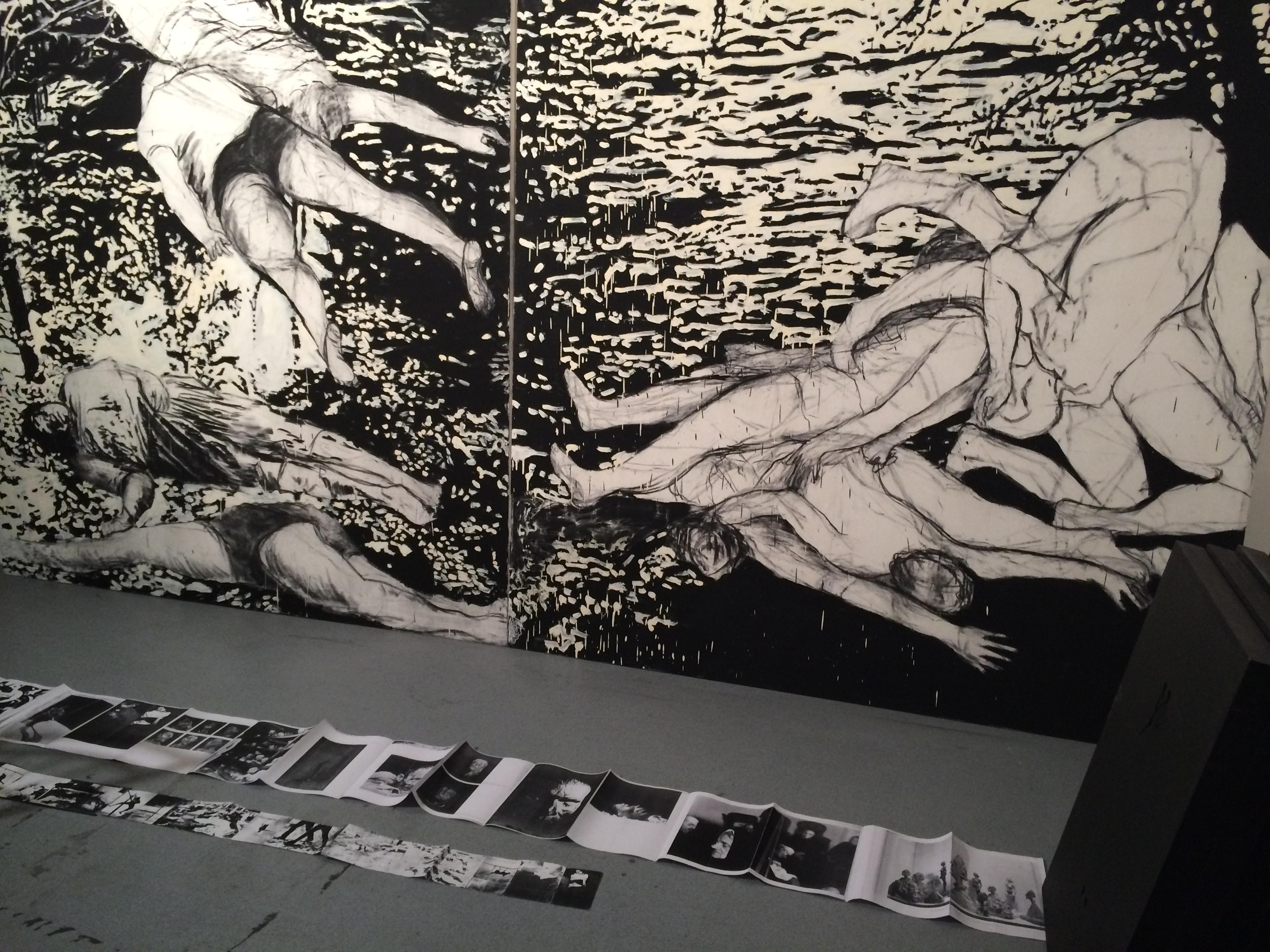 Vue de l'atelier de Constanza Aguirre à Saint Denis