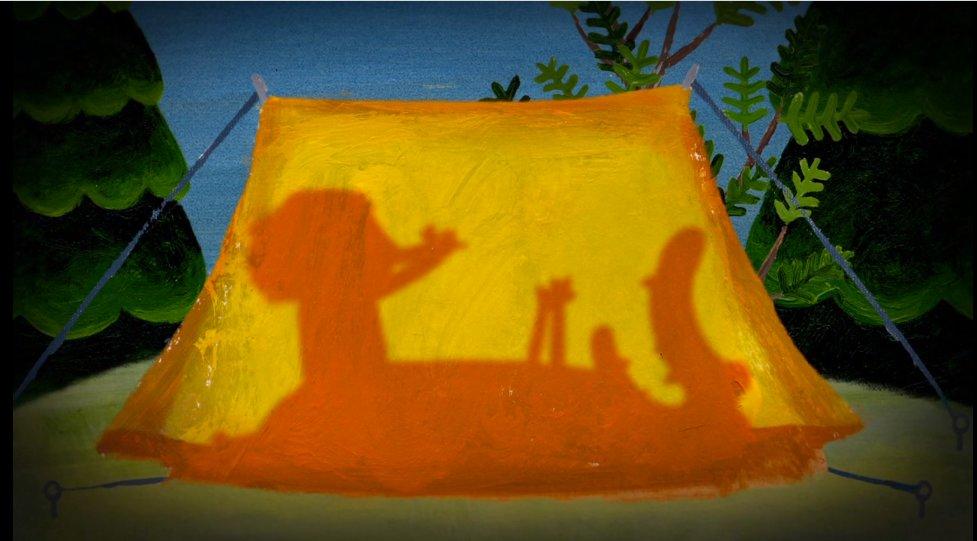 """Photogramme du court métrage """"Le Camping"""" de la série Rita et le Crocodile"""