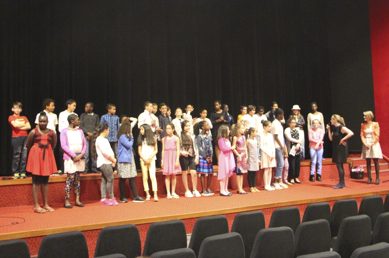 Toute l'équipe au grand complet au cinéma Jean Vigo de Genneviliers. 11-06-16