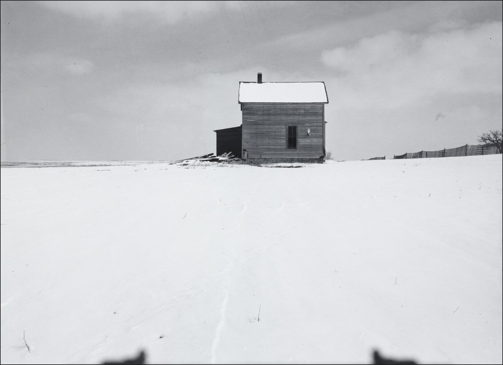 ferme en hiver