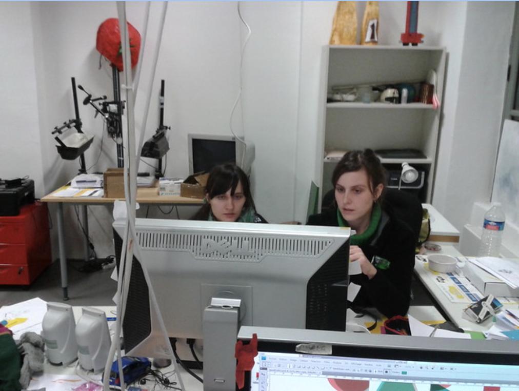 séance de travail à la Poudrière,Carles Porta, 2012